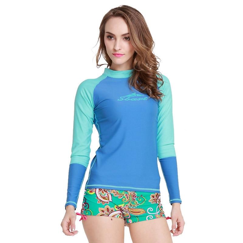 7db7eb0c1066 UV Protection Women s Compression Long Sleeve Rash Guard Top Sportswear  Rashguard Swimwear Top Shirt-in Rash Guard from Sports   Entertainment on  ...