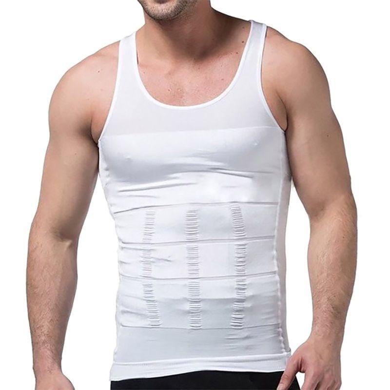 Sport Running Slim N Lift Men Shaper Vest Body Tummy Belly Waist Girdle Shirt Shapewe Comfort Shirt Vest Corset Shaper Underwear