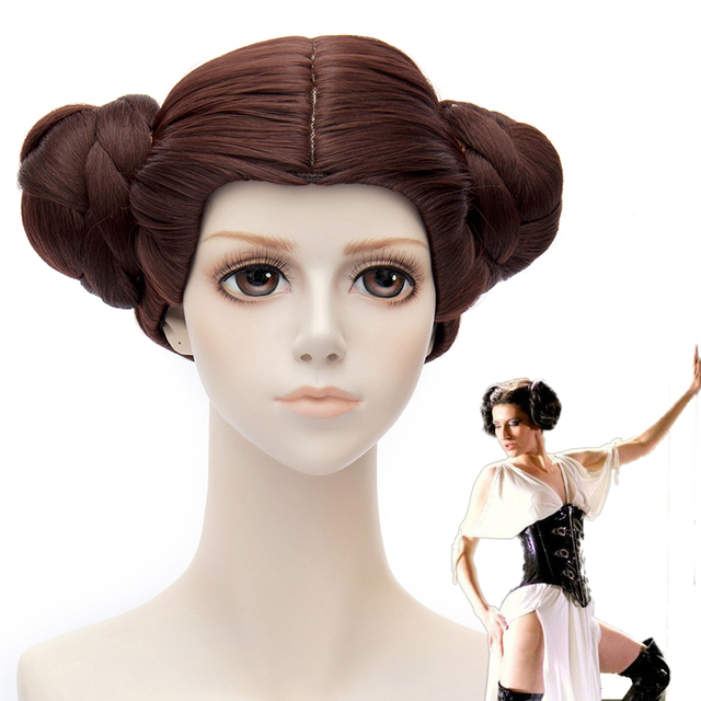 star wars princess leia organa solo bruin cosplay pruiken party
