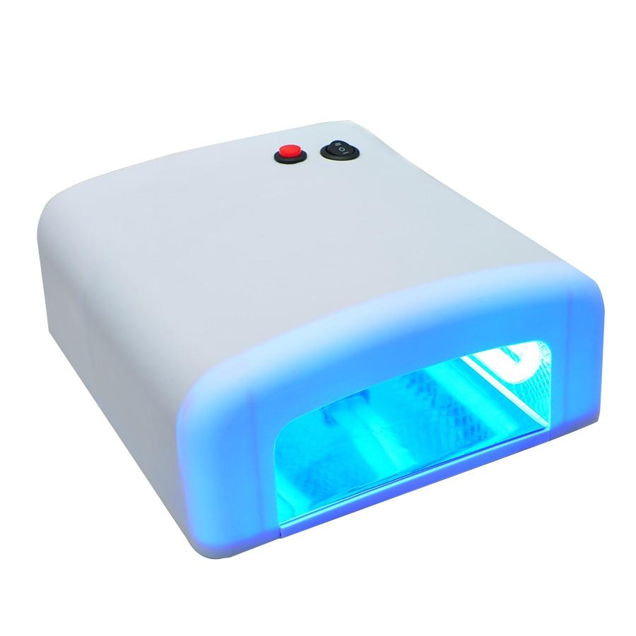 Professional 36W Nail Art UV Lamp Light Dryer 4 * 9W Salon Gel Curing Tube US Plug 110V kangtuo kt 906 9w nail art gel curing uv lamp white 2 round pin plug 120cm cable