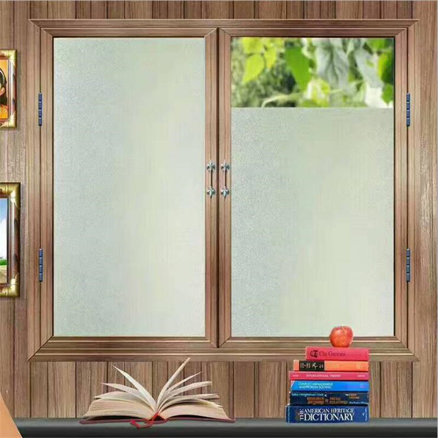 45*200cm/lot Decorative Films Privacy Static Window Film Self Adhesive No  Glue Solid