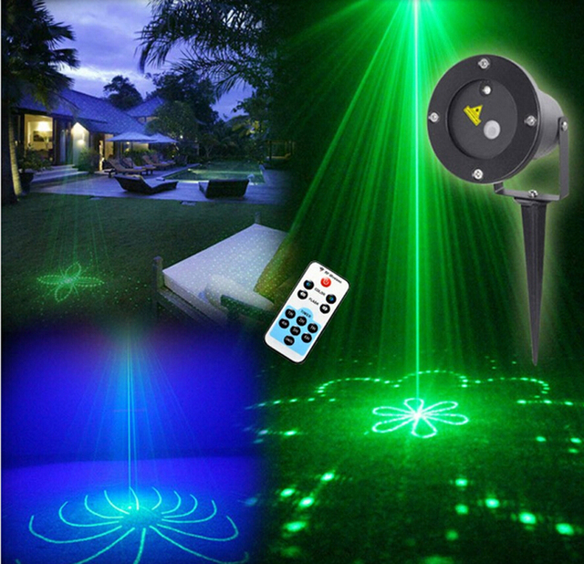 Remote green 20 patterns led blue light outdoor laser light remote green 20 patterns led blue light outdoor laser light projector waterproof garden party landscape decorative aloadofball Choice Image