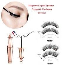 1Set Magnetic Eyelashes Liquid Eyeliner Magnets Soft Lashes Handmade 3D Natural False Makeup