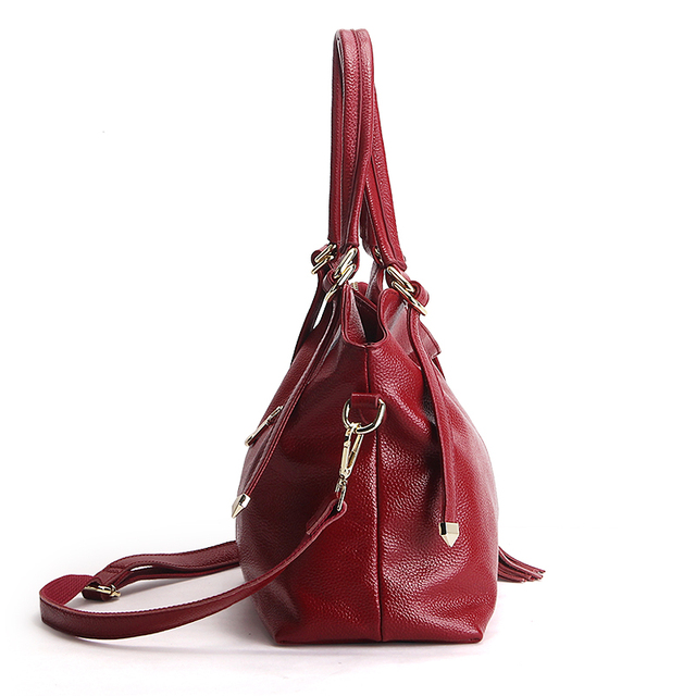 New American LUXURY Tassel 100% Soft Genuine Leather Women Shoulder Bag Brand Ladies Designer Handbags Crossbody Purse Satchel