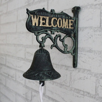 Iron Art Walls Decoration Vintage Doorbell Bell Iron Casting Garden Welcome Rich European Style Rustic Retro