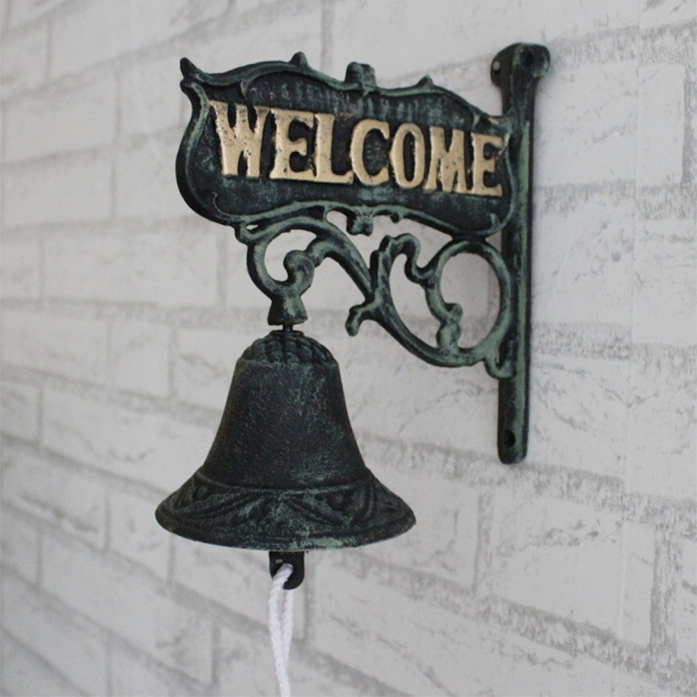 Doorbell Iron Art Walls Decoration Vintage Bell Garden Villa Apartment Welcome Swing Bell European-style Rustic Retro Atmosphere