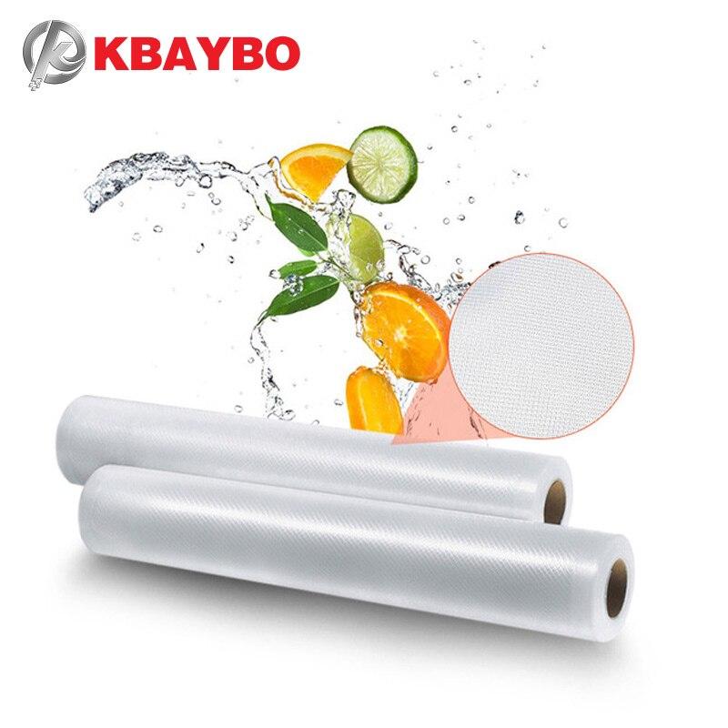 KBAYBO Kitchen Food Vacuum Bag Storage Bags For Vacuum Sealer Food Fresh Long Keeping 12+15+20+25*500cm 5 Rolls/Lot kbaybo красный