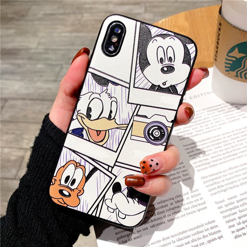 <font><b>3D</b></font> Relief Cartoon Mouse <font><b>Cases</b></font> For <font><b>iPhone</b></font> 7 Plus 8 <font><b>X</b></font> 10 Lovely <font><b>Case</b></font> For <font><b>iPhone</b></font> 11 Pro Max 6 6S Plus 5 5S SE XS Max XR TPU Cover image