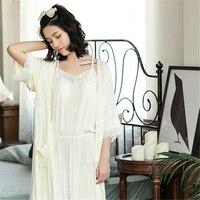 New Women Sleepwear Bamboo Fiber Nightgowns Sleepshirts Sexy Indoor Clothing 2 Pieces Home Pajama Shirts