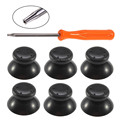 6 pcs Black / Gray 3D Analog Joystick + Tool for Microsoft Xbox 360 Controller Thumbsticks Caps for X box 360 Repair Parts