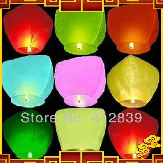 Free shipping,2pcs/lot Sky lantern Kongming wishing Lanterns,Flying Light,Chinese sky Lantern Factory Direct Sale