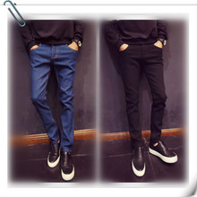 Jeans Men Clothes Slim Pants Modis Cotton Stretch Fit Denim Trousers Male Casual Streetwear Homme