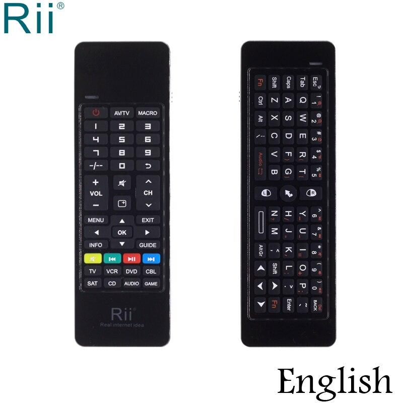 Souris d'air clavier sans fil Rii i13 2.4 GHz d'origine pour Google Andorid TV Box, Mini PC, ordinateur portable, projecteurs