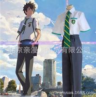 Japanese Anime Kimi no Na wa Your Name Tachibana Taki Cosplay Costume Miyamizu Mitsuha Cosplay School Uniform Costume