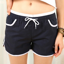 High waist women summer shorts 5 colors plus size fitness shorts cheap clothes china pink short
