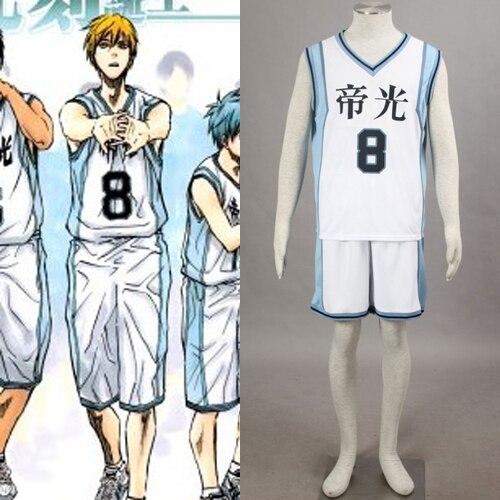 Kuroko S Basketball Season 2 Tagalog Version: Kuroko No Basuke Boys' Basketball Uniform Kise Ryota No.8