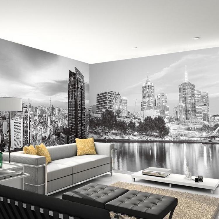 Black&white 3D Papel Murals New York City 3d Photo Mural 3d Wallpaper For Bedroom Sofa Background 3d Wall Murals Wall Paper