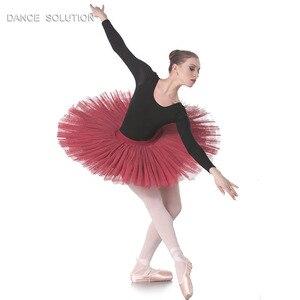 Image 2 - 전문 리허설 투투 어린이 및 성인 발레 댄스 하프 투투 스커트 7 층 뻣뻣한 얇은 명주 그물 Pancak 투투 BLL001