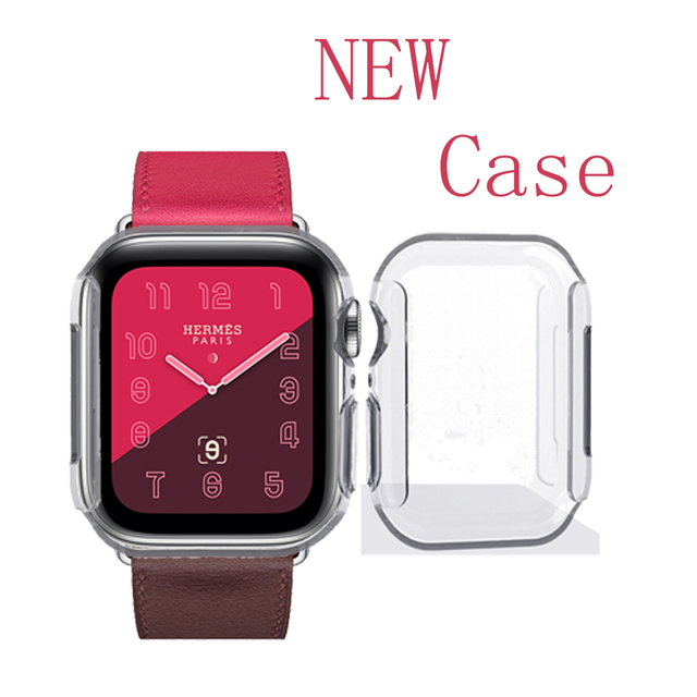 size 40 dca57 1deae US $0.71 40% OFF|Silicone Watch Case cover for Apple Watch Band 42mm 38mm  44mm 40mm iwatch case 4/3/2/1 Soft Protector Ultra thin Clear shell-in ...