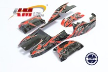RC Shell Pre-drilled Painted Body Fits HPI Baja 5B, SS, 2.0 (Red)