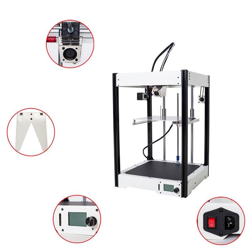 Trasporto libero 3D stampante di grande formato 220*220*290mm fusoliera in metallo di Precisione di Alta Qualità kit FAI DA TE con LCD CL-260