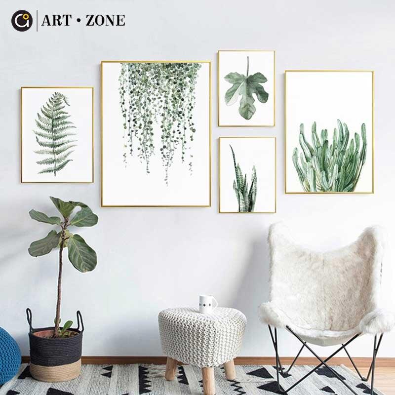 Arte zona Tropical planta hojas lienzo impresión arte cartel nórdico ...