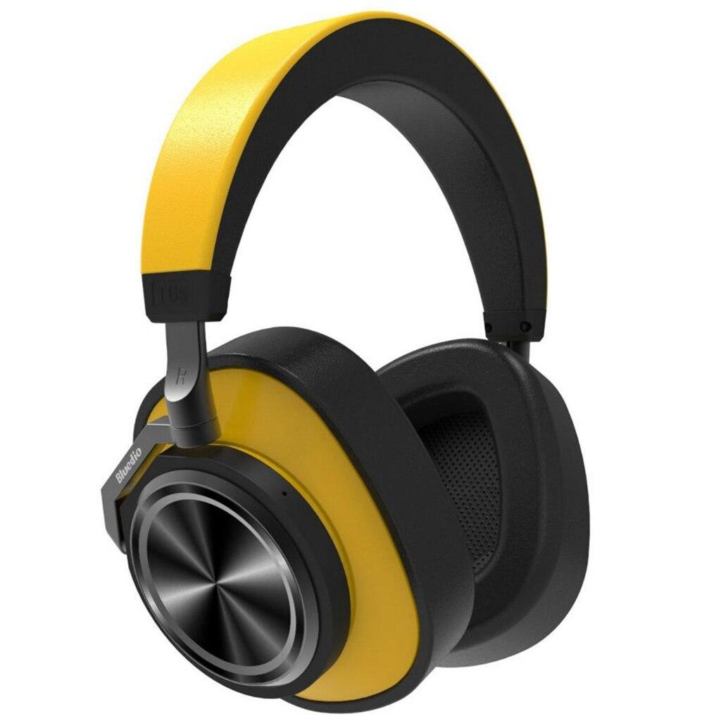Casque Bluetooth Bluedio casque anti-bruit actif casque sans fil jaune sur l'oreille casque Bluetooth