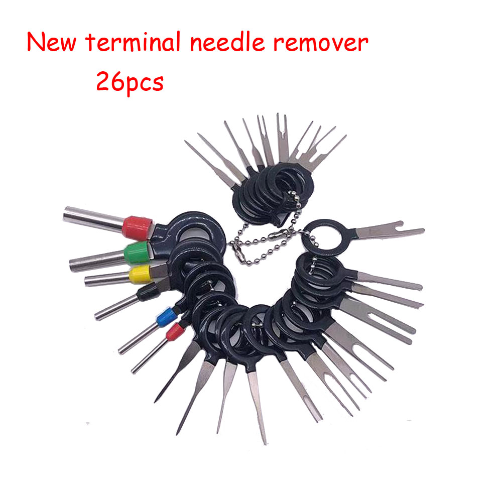 26Pcs/Set Terminal Removal Tools Car Electrical Wiring Crimp Connector Pin Extractor Kit Car Repair Hand Tool Set Plug key26Pcs/Set Terminal Removal Tools Car Electrical Wiring Crimp Connector Pin Extractor Kit Car Repair Hand Tool Set Plug key