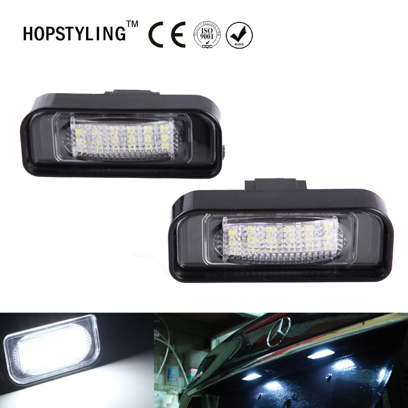 2x No Error LED License plate light For Mercedes Benz S-class W220 S320 S500 S55 S600 S65 S350 car styling accessory parts 10pcs error free led lamp interior light kit for mercedes for mercedes benz m class w163 ml320 ml350 ml430 ml500 ml55 amg 98 05