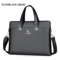YUES KANGAROO New Brand Leather Men Bags High Quality Laptop Business Briefcase Handbag Male Crossbody Shoulder