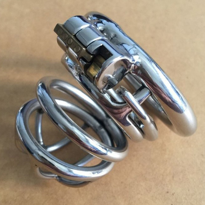 Metal Cockring Penis Cage With Anti-Off Ring Stainless Steel Male Chastity Device Adult Sex Toys Cock Rings For Men CB6000s wearable penis sleeve extender reusable condoms sex shop cockring penis ring cock ring adult sex toys for men for couple