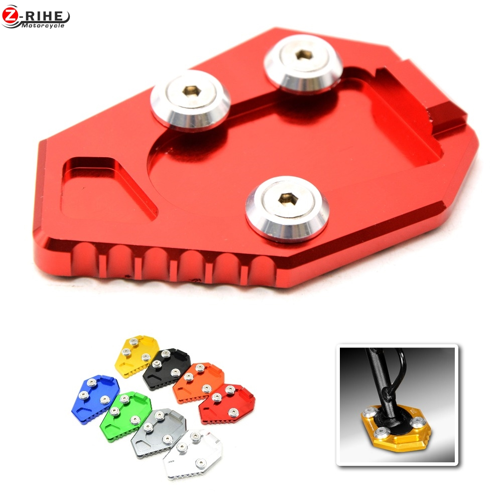 CNC Motorcycle Side Kickstand Stand Extension Plate SIDE STAND ENLARGER For HONDA CB1000R CB 1000R 1000 08 09 10 11 12 13 14 15 motorcycle side stand enlarger cnc kickstand side stand extension enlarger pate pad for bmw f800gs