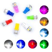 10 шт. w5w светодиодный T10 светодиодный лампы 5 SMD 5050 светодиодный 194 168 автомобильный боковой клиновидный задний светильник лампа для парковки автомобиля светодиодный фонарь для номерного знака