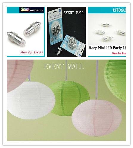 50pcs/lot MINI LED BALLOON LIGHT Waterproof landscape deft design Mini Party Lights For Wedding Centerpieces