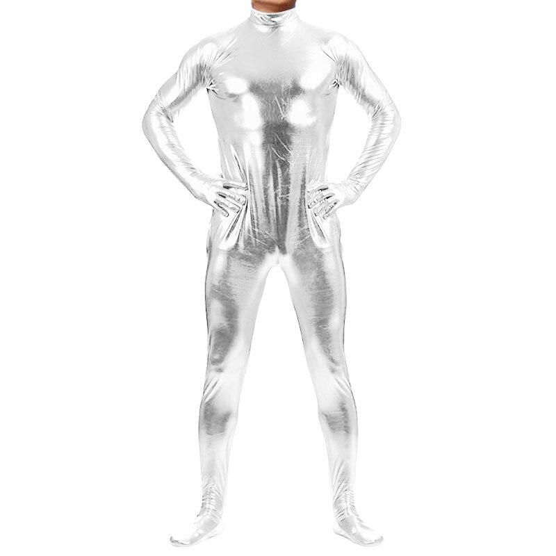 d279678867d Ensnovo Men Nylon Lycra Spandex Suit Black Shiny Metallic Tights Headless Zentai  Suit Full Body Custom Skin Cosplay Bodysuit-in Zentai from Novelty ...