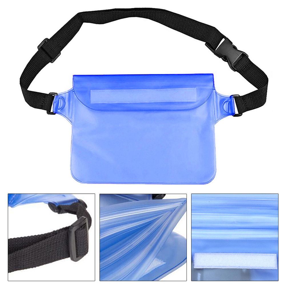 Kayaking Swimming Adjustable Straps Diving Waterproof Dry Unisex Outdoor Protect Phone PVC Hiking Beach Boating Waist Bag