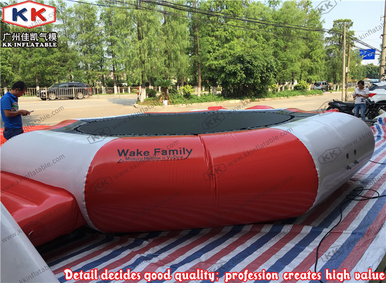Floating lake game inflatable water sports trampoline, commercial rental water trampoline price