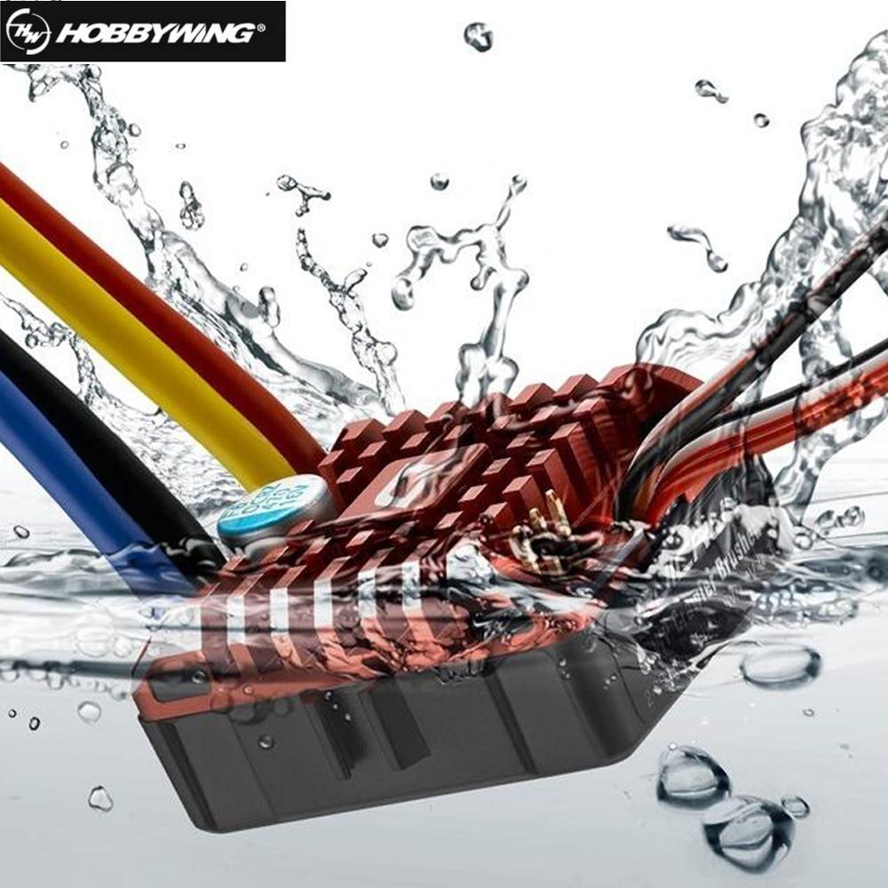 Hobbywing QuicRun WP 1080 chenille imperméable à l'eau brossé ESC BEC intégré 2-3 S Lipo avec LED carte de programmation pour 1/10 1/8 voiture RC