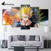 5 piece canvas art HD print dragon ball Z strongest fighter paintings for living room wall free shipping UP-2086B