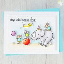 Naifumodo Animal Stamps and Dies Scrapbooking Elephant Letters for Card Making Stencil Stitch Metal Cutting New 2019