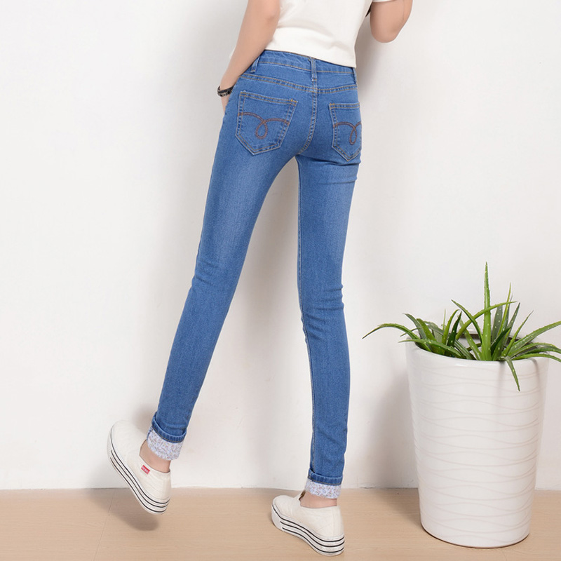 Stretch Jeans Women 2017 Spring New Plus Size Jeans Femme Slim Denim Pants Pencil Ripped Sexy Skinny Jeans Women Pantalon Femme rosicil new women jeans low waist stretch ankle length slim pencil pants fashion female jeans plus size jeans femme 2017 tsl049