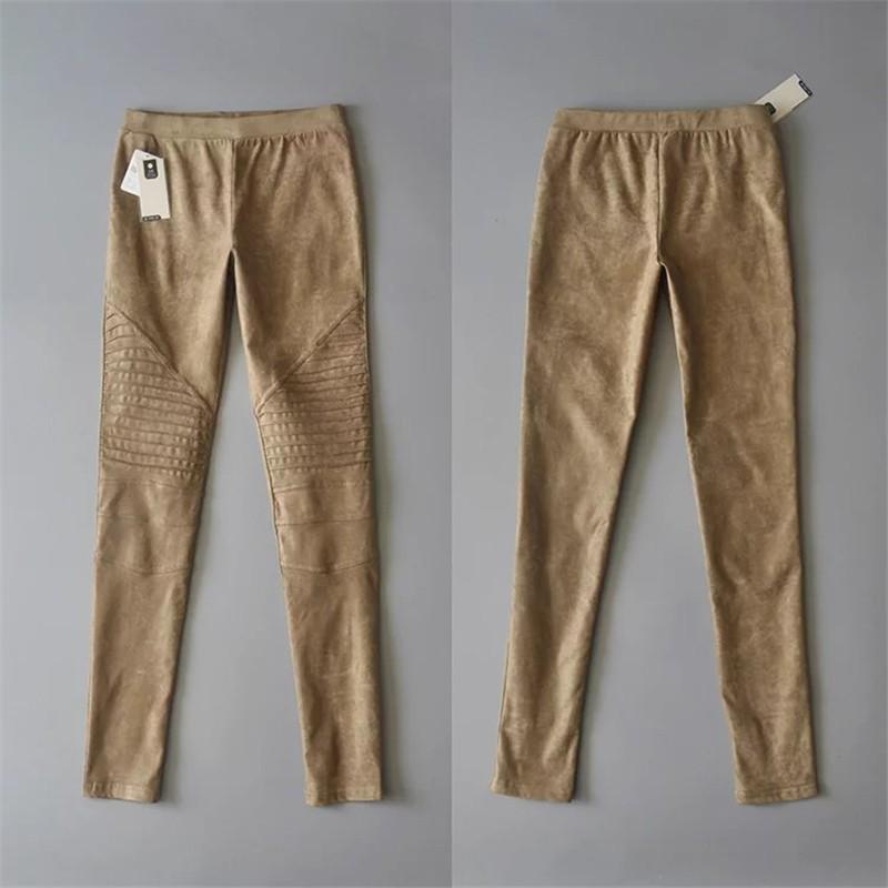 Slim Suede Jeans 11
