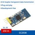 Данные передачи точка-точка режиме вещания CC2530 2.4 Г zigbee беспроводной последовательный порт TTL модуль приемопередатчика
