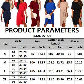 Hot 2019 Summer Dress Work Office Short Sleeve O-Neck Elegant Ladies Bodycon Bandage Belt Slim Party Dress Vestidos Plus Size 6