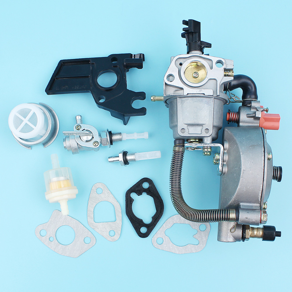 Carburetor LPG/CNG Dual Fuel Conversion Kit For Honda GX200 170F GX160 168F 2KW-3KW Generator Water Pump Engine Motor new design jiwannian lpg&cng carburetor three way conversion kit for gx160 gx200 engine petrol & liquefield dual fuel carburetor page 4