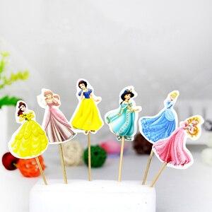 24 шт./лот, Милая принцесса, Золушка, кекс, верхняя часть, выберите очаровательную принцессу, Золушка, детский душ, вечерние товары на день рож...