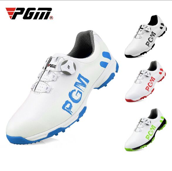 2019 Golf Shoes Mens Leather Waterproof Sneakers Laces Activities Nail Automatic Revolving Spikes Breatheble Golf Shoes