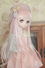 цена на Doll wigs pink color natual curly hairs available for 1/6 1/4 1/3 size BJD DD SD doll accessories BJD doll wigs