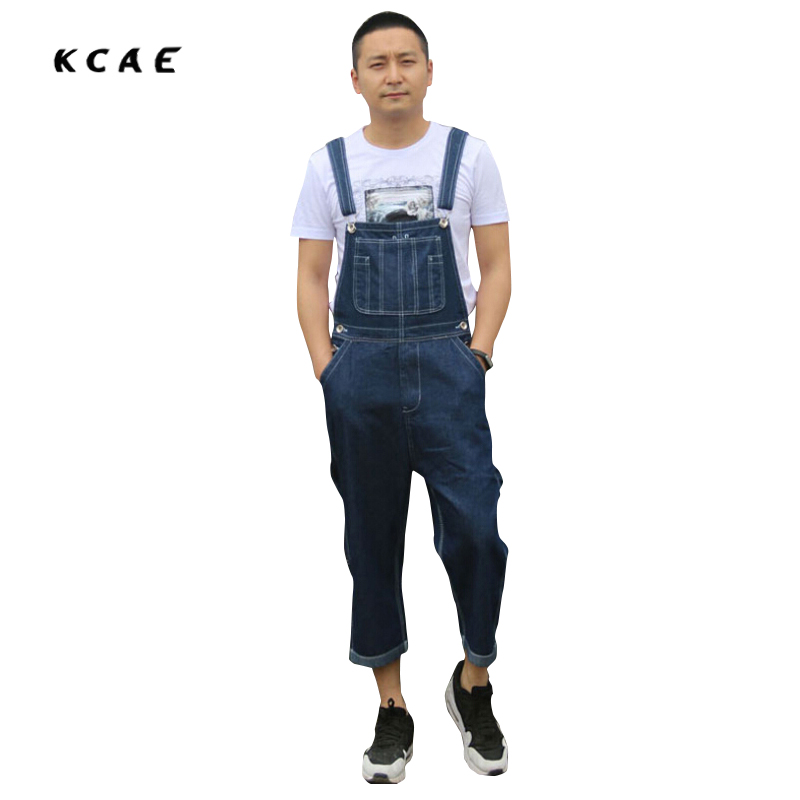 Men's Loose Size 36-42 Overalls Men Jeans Male Pocket Huge Large Size denim Brand Pants Suspenders Woker Jeans Jumpsuits Shorts fashion casual loose denim overalls men large size 46 cargo pants male jeans jumpsuits spring vintage sexy denim trousers 062909