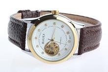 2016 Оригинальный Бренд BIAOKA Мужчины Досуг часы Авто Механические Часы Для Мужчин Мода Кожаный Ремешок 100 м Водонепроницаемый Наручные Часы